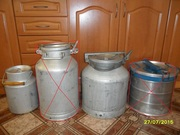 Бидоны СССР, пищевой алюминий на 30 и 10 литров в идеальном состоянии.